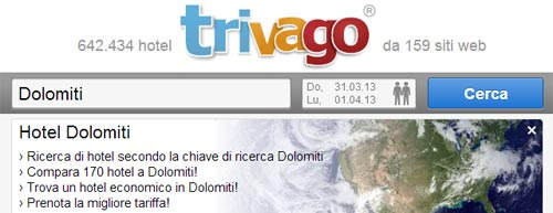 Hotel sulle Dolomiti con Trivago
