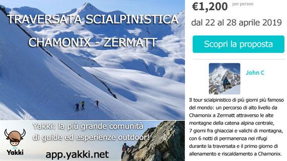 Traversata scialpinismo Chamonix-Zermatt