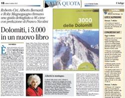 Recensione sul giornale L'Adige