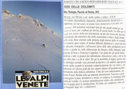 Recensione sulla rivista Le Alpi Venete