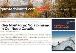 Recensione Scialpinismo in Col Nudo-Cavallo su Questedolomiti.com