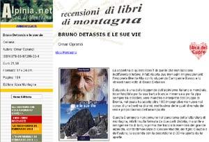 Recensione Bruno Detassis e le sue vie su Alpinia.net