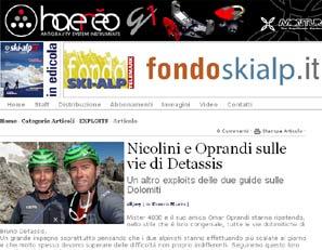 Recensione Bruno Detassis e le sue vie su Fondoskialp.it