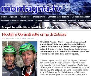 Recensione Bruno Detassis e le sue vie su Montagna.tv