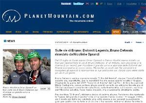 Recensione Bruno Detassis e le sue vie su Planetmountain.com