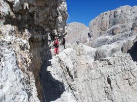 Bocchette Alte e Centrali nelle Dolomiti di Brenta