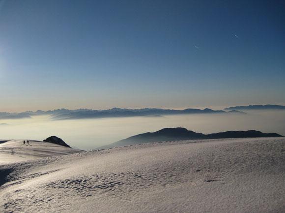 Il nevaio sulla cima