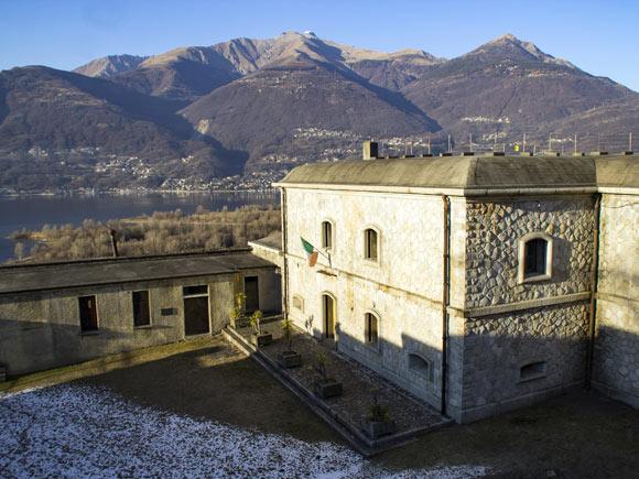 La piazza armi del Forte di Montecchio a Colico