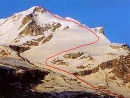 Scialpinistica sul Gran Paradiso