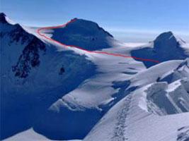 Salita sci alpinistica alla Punta Gnifetti