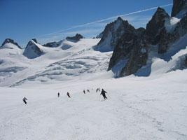 Traversata sciistica del Monte Bianco