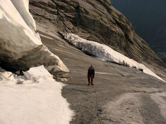 Gli icebergs che si incontrano verso attacco della Cassin