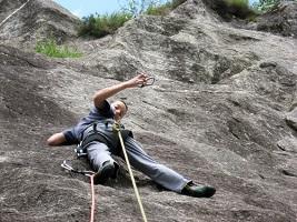 Primi passi da alpinista al Crap de la Nona