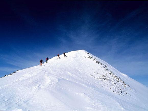 In vetta a una cima dei Monti del Caucaso