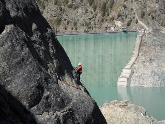 Sulla parete del Lago a Campo Moro