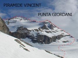 Cresta del Soldato (Monte Rosa) Punta Giordani