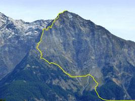 Becca di Nona 3142 m - Cresta Nord