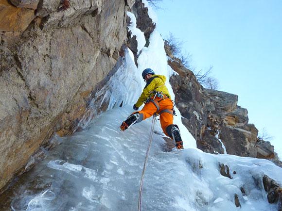 Cascata di ghiaccio a Cogne