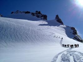 Salita al Gran Paradiso con gli sci