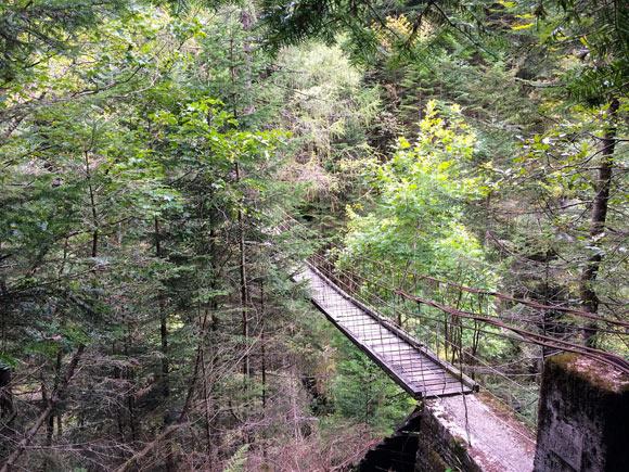 Il Pont Secret, ultimo passaggio prima del rientro a Bodengo