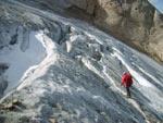 Lungo il ghiacciaio della Marmolada