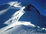 La cresta delle Bosses verso il Monte Bianco
