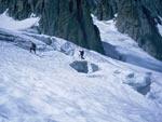 Crepacci lungo il ghiacciaio del Gigante